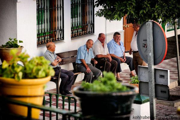 alte spanische Herren in Competa