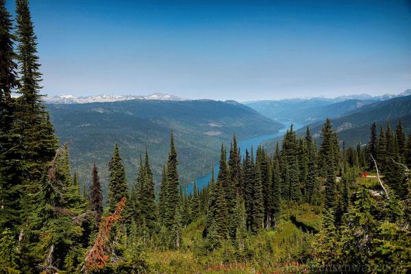 im Mt. Revelstoke Nationalpark - Blick auf den Lake Revelstoke