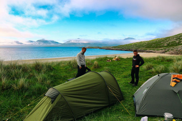 Zelten am Luskentyre Beach - Isle of Harris