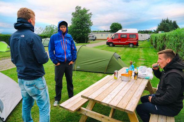 Zelten in Dornoch - Ostküste
