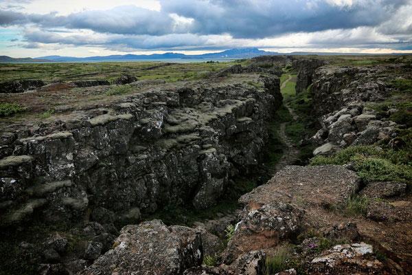 Erdspalte bei Þingvellir