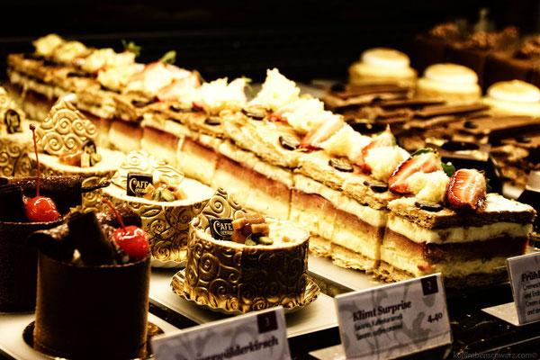 Süßspeisen im Cafe Central