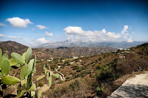 Blick zur Sierra de Tejeda Alhambra