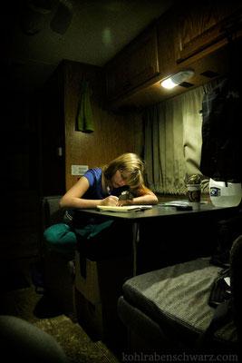 Abends im Camper