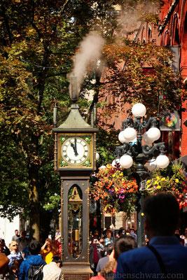 dampfbetriebene Uhr in Gastown