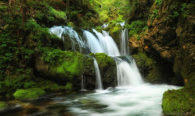 der traumhafte Wasserfall Mostnica bei Stara Fuzina