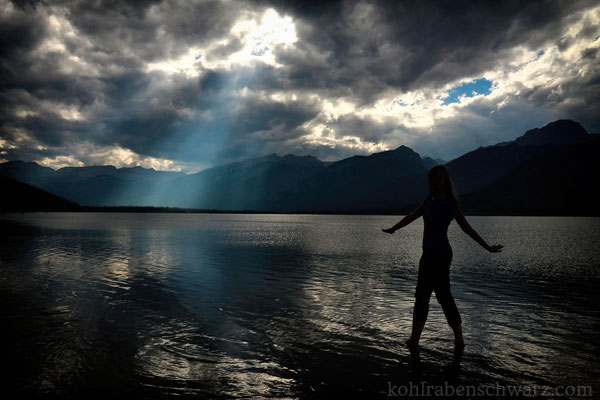 am Jasper Lake / Athabasca River