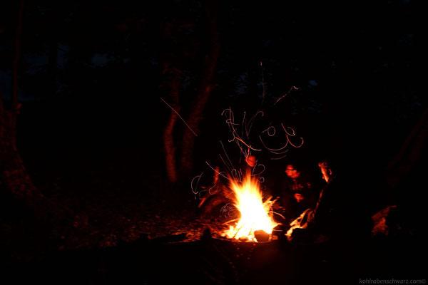 Lagerfeuer am Loch Rannoch