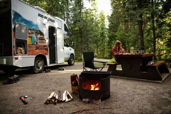 Grillen auf dem Nairn Falls Campground