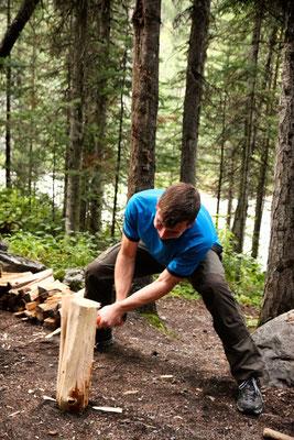 Holz hacken!