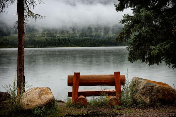Regen am Pyramid Lake