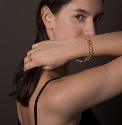 Bracelets Boules/Torsade – Bagues – Boules/Entrelas/Fleurs – Silver/Silver Gold Plated