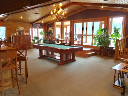 Billiard Room in Main Lodge