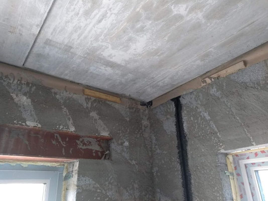 Common situation, once the hollow core slab is installed. The membrane ends somewhere loose.