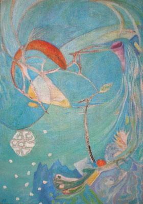 Tau,  2006, Öl auf Jute, 120 x 85 cm
