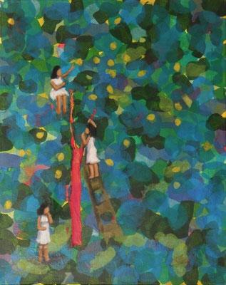 Die Ernte, 2012, 40 x 30 cm, Seidenpapier u. Acryl auf Molino    200,-