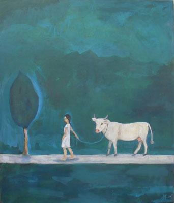 Abend, 2015, 100 x 90 cm Acryl auf Molino     400 €