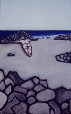 Gomera,  2001, Acryl auf Karton, 40 x 30 cm