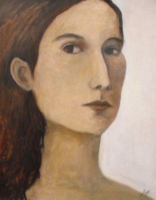 Gesicht III, 2010  40 x 30 cm, Acryl auf Molino   200,-