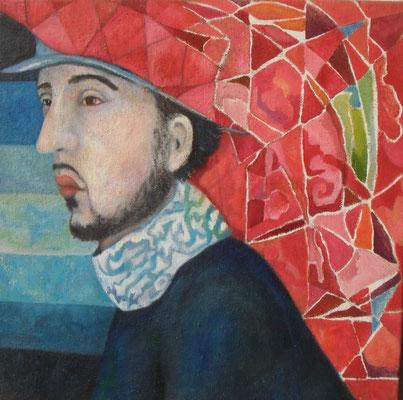 Don Jovanni,  2006, Öl auf Jute, 70 x 70 cm