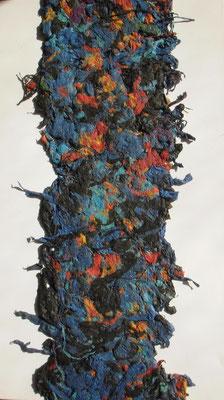 Das Tuch, 2015  70 x 40 cm, Papiermaschée auf Molino    200,-