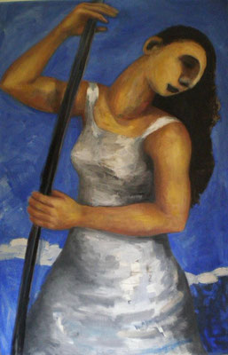 Weltgewandt,2008, *  120 x 85 cm, Öl auf Molino, verk.