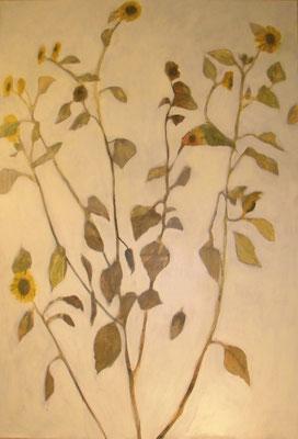 Sonnenblumen im Wind, 2012  120 x 100 cm, Acryl auf Molin    200.-