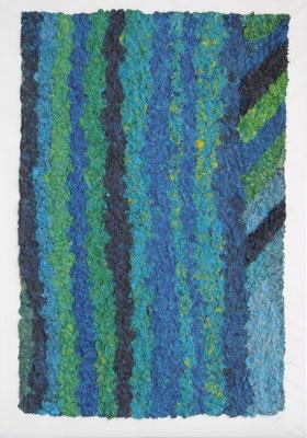 Wald, 2013  100 x 70 cm, Papiermaschée auf Molino     300,-