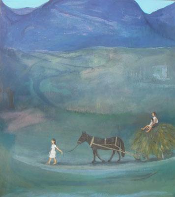 Ernte, 2015, 110 x 90 cm, Acryl auf Molino