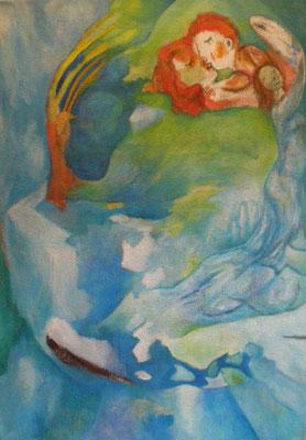 Schmelze,  2006, Öl auf Jute, 120 x 85 cm