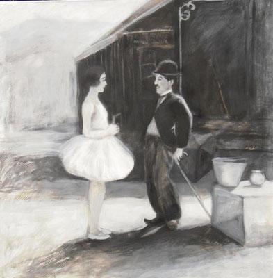 Der Zirkus, 2009,  100 x 100 cm, Acryl auf Molino    300,-