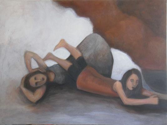 In die Welt, 2010,  120 x 85 cm, Acryl auf Molino, verkauft