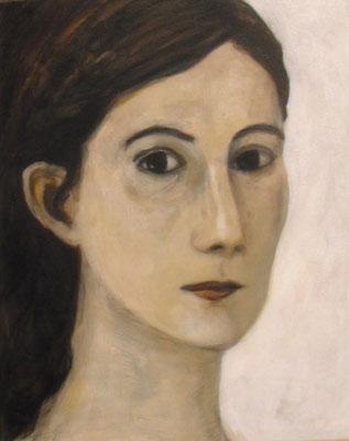 Gesicht II, 2010  40 x 30 cm, Acryl auf Molino   200,-