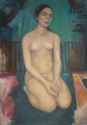 Reise,  2005, Öl auf Molino, 100 x 70 cm