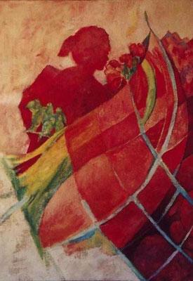 Morgenlied, 2007, Öl auf Jute, 120 x 85 cm