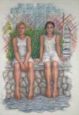 Sonnabend, 2007, Öl auf Jute, 120 x 85 cm