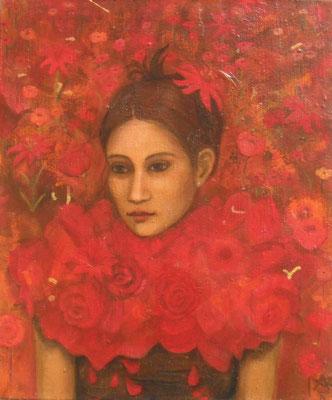 Blütenfrau, 2013  60 x 50 cm, Acryl auf Molino,     200,-
