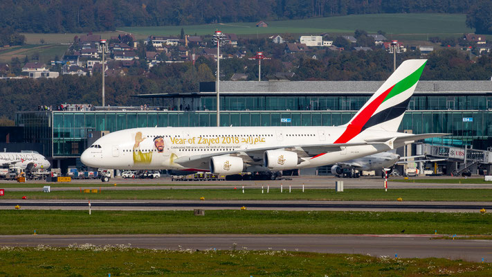 Emirates (Year of Zayed 2018 Livery) – Airbus A380-861 – A6-EUA – 14.10.2018