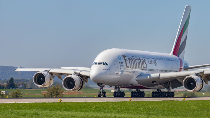 Landung Emirates Airbus A380-861 – A6-EEJ – Piste 14 – 17.09.2018