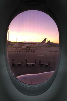 Abflug mit Verspätung vom ZRH-Airport nach Venedig.
