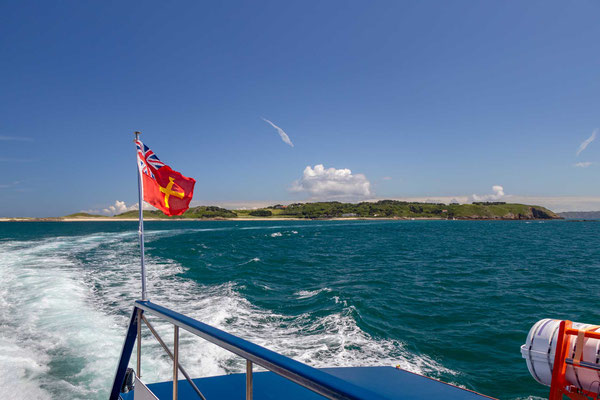 Rückfahrt mit dem Boot von Herm nach Guernsey
