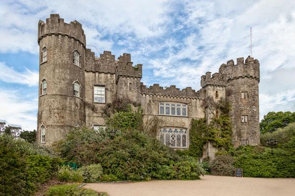 Das bezaubernde Schlösschen Malahide Castle in Malahide im Norden von Dublin
