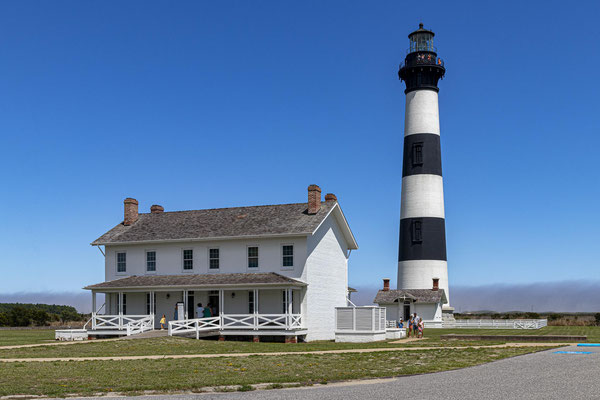Bodie Island Lighthouse am Roanoke Sound bei Nags Head