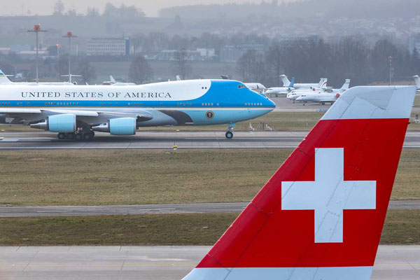 Air Force One 82-8000 – SAM45 say Goodbye Switzerland – B-742 – WEF 2020 – 22.1.2020