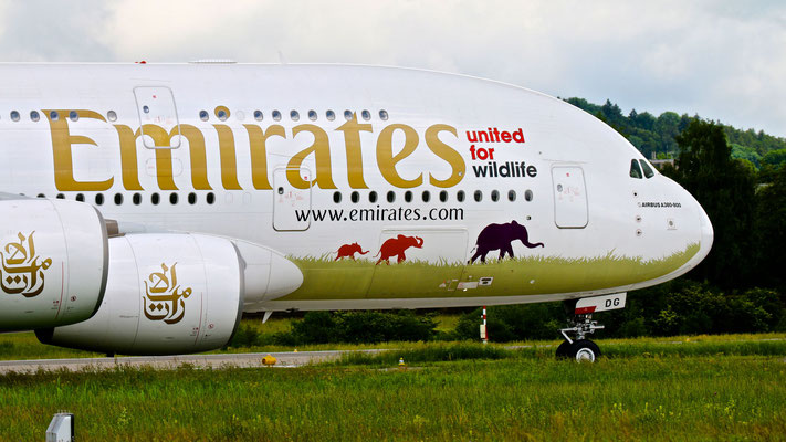 Emirates Airbus A380-800 United for Wildlife – 03.06.2016