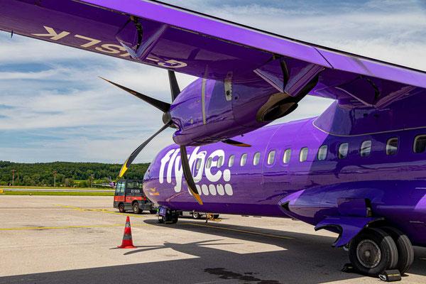 Abflug mit Flybe von Zürich nach Jersey – Flugdauer 2h