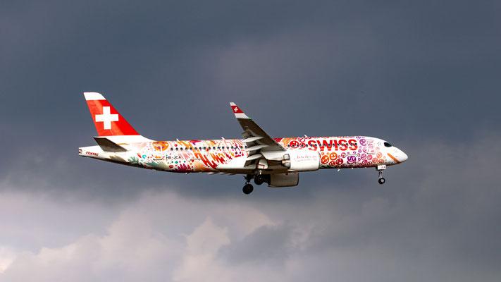 Swiss (Fete des Vignerons 2019 Livery) – Airbus A220-300 – HB-JCA – 22.02.2019