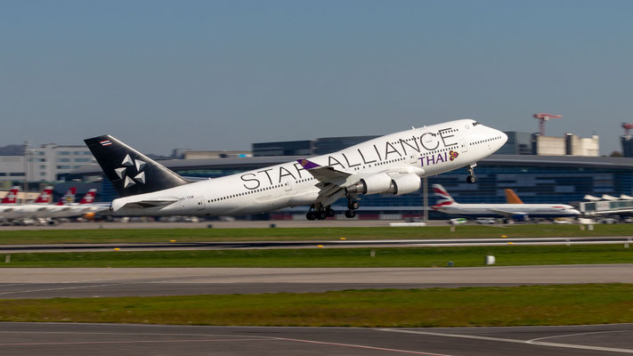 Thai Airways (Star Alliance Livery) – Boeing 747-4D7 – HS-TGW – 14.10.2018