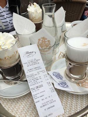Das Caffè Florian am Markusplatz - Tradition hat seinen Preis