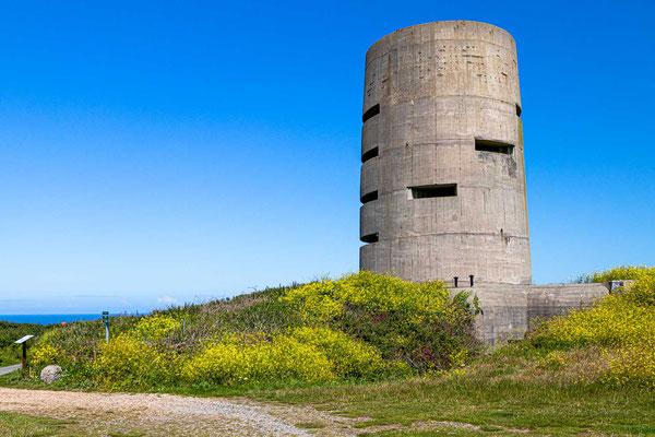 Dieser fünfstöckige Aussichtsturm wurde von 1942 bis 1945 von deutschen Streitkräften als Teil ihres Seeverteidigungssystems während der Besetzung von Guernsey im Zweiten Weltkrieg gebaut und genutzt.